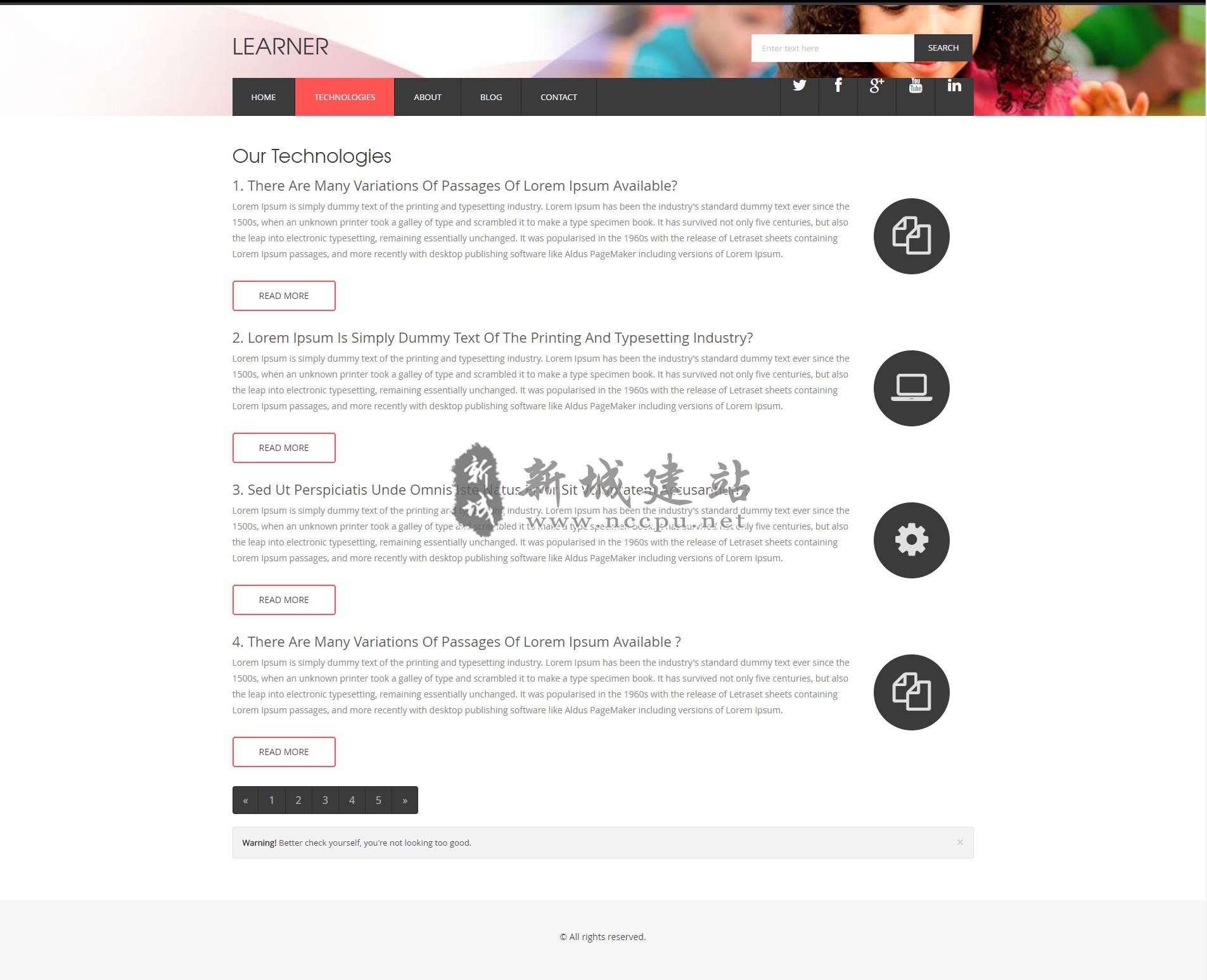 石家庄响应式教育英语培训公司网站案例内页