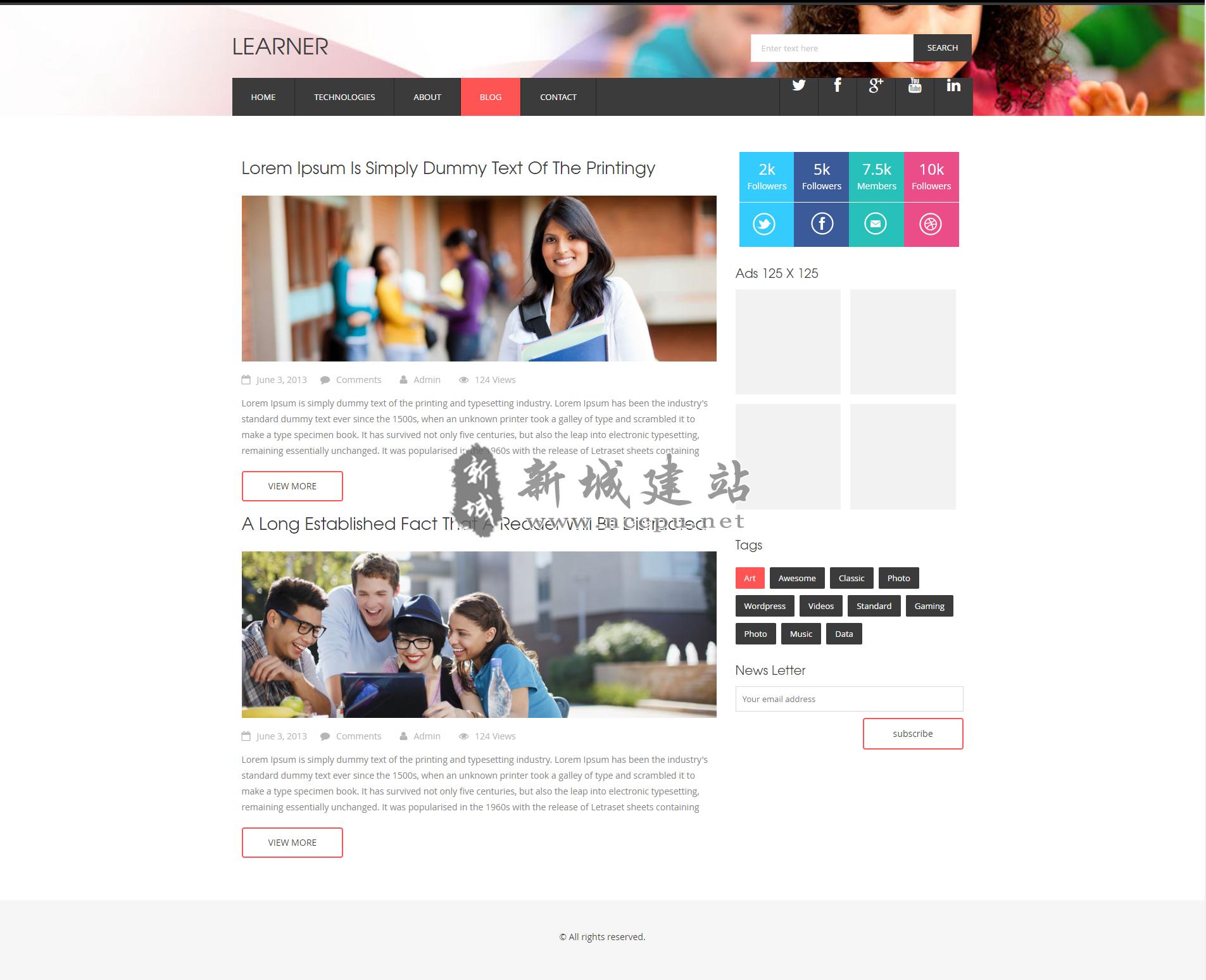 石家庄响应式教育英语培训公司网站案例内页2