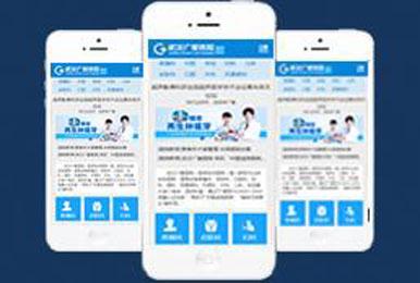 蓝白WAP手机综合医院类整站建设案例「响应式」